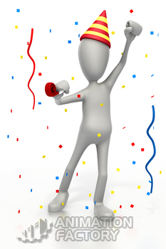 Stickman celebrating at party