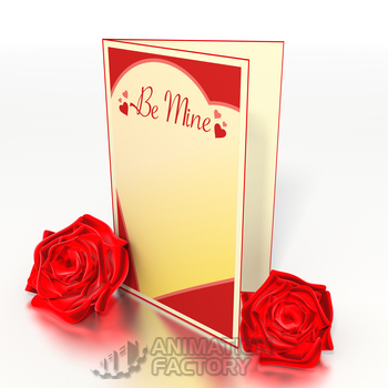 Valentine's Day card and roses